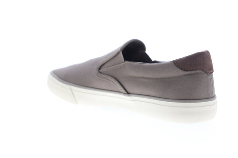 Lugz Clipper Mens Gray Canvas Low Top Slip On Lifestyle Sneakers Shoes