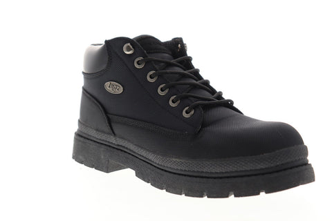 Lugz Drifter Ballistic MDRBT-001 Mens Black Canvas Casual Dress Lace Up Boots Shoes
