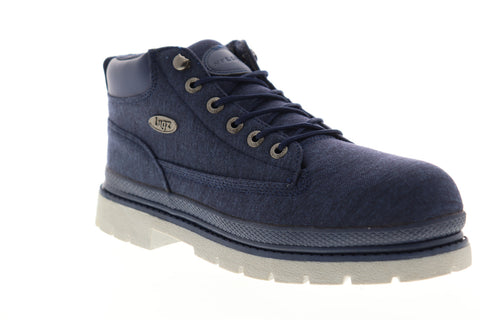Lugz Drifter Denim MDRIDC-4125 Mens Blue Canvas Mid Top Lace Up Chukkas Boots