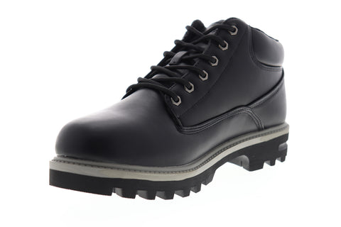 Lugz Empire WR MEMPV-069 Mens Black Leather Mid Top Lace Up Casual Dress Boots