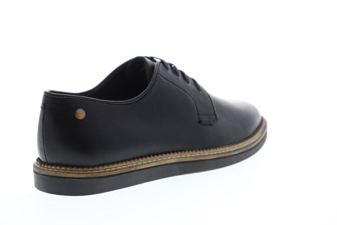 Frank Wright Turpin Mens Black Leather Casual Dress Lace Up Oxfords Shoes