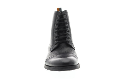Frank Wright Marris Mens Leather Black Casual Dress Lace Up Boots Shoes