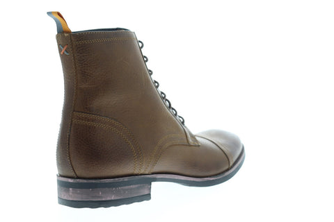 Frank Wright Marris Mens Leather Brown Casual Dress Lace Up Boots Shoes