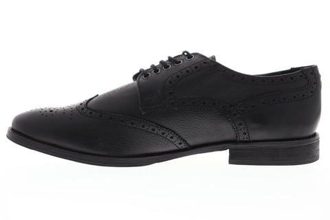 Frank Wright Merc MFW533 Mens Black Leather Low Top Wingtip Oxfords Shoes
