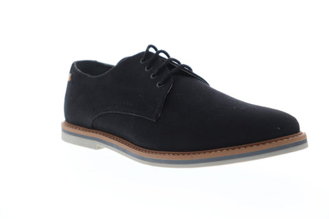Frank Wright Telford Mens Black Canvas Casual Dress Lace Up Oxfords Shoes
