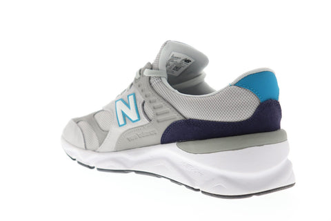 New Balance X90RV1 Mens Gray Mesh & Suede Low Top Lace Up Sneakers Shoes