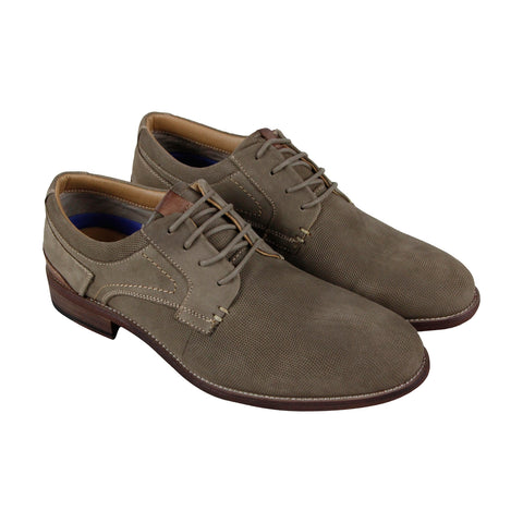 Steve Madden Mychel Mens Gray Nubuck Casual Dress Lace Up Oxfords Shoes