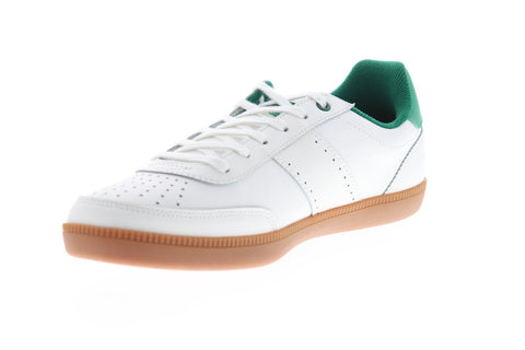 Original Penguin Collin Mens White Leather Low Top Lace Up Sneakers Shoes