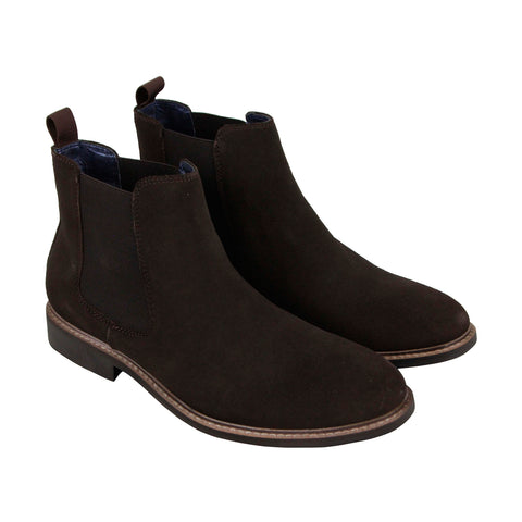 Steve Madden P-Canyen Mens Brown Suede Casual Dress Slip On Boots Shoes