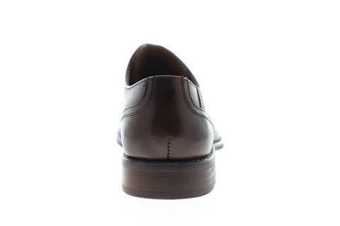 Steve Madden P-Dorian Mens Brown Leather Dress Lace Up Oxfords Shoes