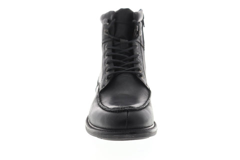 Steve Madden P-Gabun Mens Black Leather Casual Dress Zipper Boots Shoes