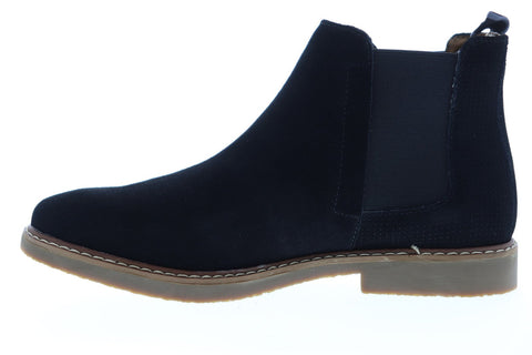 Steve Madden P-Hilow Mens Black Suede Slip On Chelsea Boots Shoes