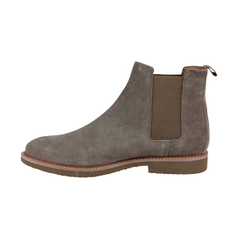 Steve Madden P-Inland Mens Gray Suede Casual Dress Slip On Boots Shoes