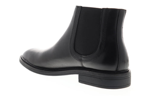 Steve Madden P-Lester Mens Black Leather Slip On Chelsea Boots Shoes