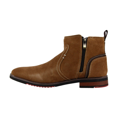 Steve Madden P-Nano Mens Tan Suede Casual Dress Zipper Boots Shoes