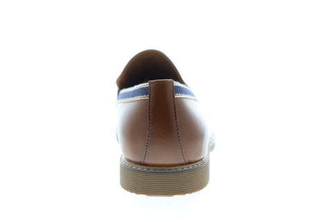 Steve Madden P-Orre Mens Brown Leather Dress Slip On Loafers Shoes