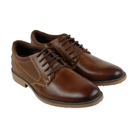 Steve Madden P-Stirr Mens Tan Leather Casual Dress Lace Up Oxfords Shoes