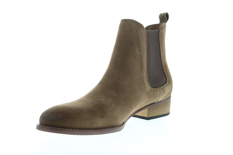Steve Madden Paterson Mens Brown Suede Casual Dress Slip On Boots Shoes