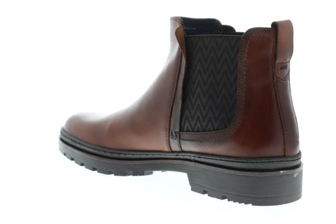 Steve Madden Pippin Mens Brown Leather Casual Dress Lace Up Boots Shoes