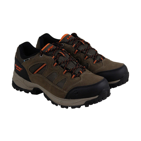Hi-Tec Ridge Low Wp 1 Mens Brown Suede & Nylon Athletic Hiking Shoes