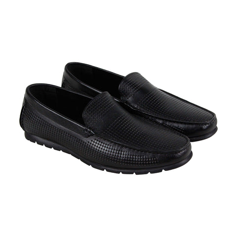 Kenneth Cole Reaction Hendrix Mens Black Leather Casual Dress Loafers Shoes