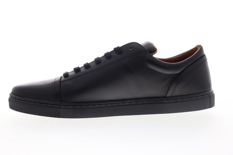 Robert Wayne Dary RW100074M Mens Black Leather Low Top Lifestyle Sneakers Shoes
