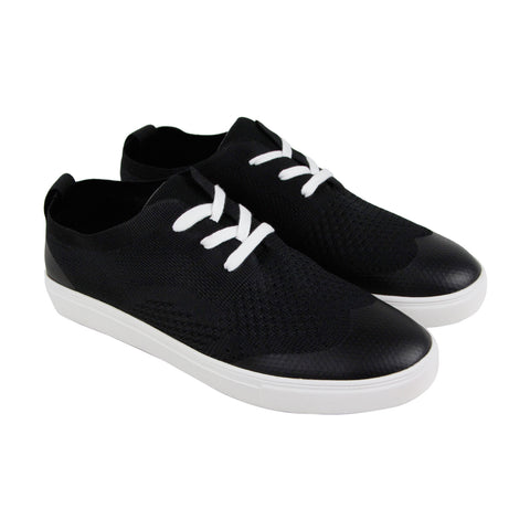 Robert Wayne Datin Mens Black Textile Low Top Lace Up Sneakers Shoes