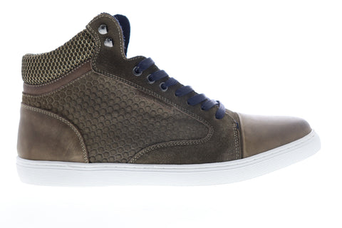 Robert Wayne Gunther RW100180M Mens Brown Leather Lifestyle Sneakers Shoes