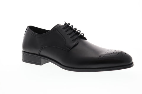 Robert Wayne Tf Vesper Mens Black Leather Casual Dress Oxfords Shoes