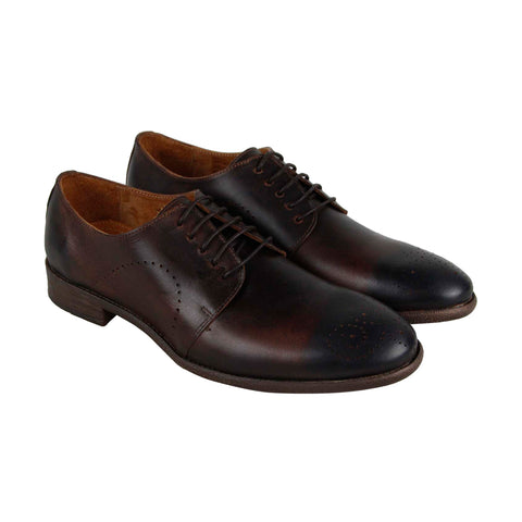 Robert Wayne Tf Utah Mens Brown Leather Casual Dress Lace Up Oxfords Shoes