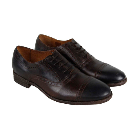 Robert Wayne Tf Colorado Mens Brown Leather Casual Dress Oxfords Shoes