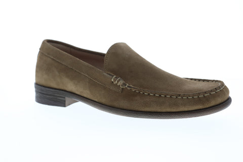 Robert Wayne Tf Maine Mens Gray Suede Casual Dress Slip On Loafers Shoes