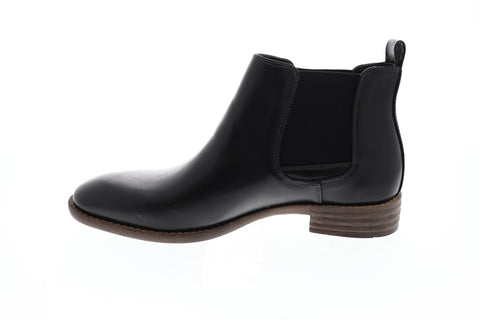 Robert Wayne Oklahoma Mens Black Leather Casual Dress Slip On Boots Shoes