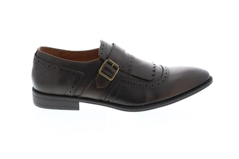 Robert Wayne Callan RWS10001M Mens Brown Leather Monk Strap Oxfords Shoes