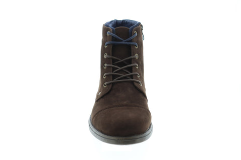 Robert Wayne Jaron Mens Brown Suede Casual Dress Zipper Boots Shoes