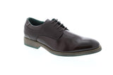 Robert Wayne Sandrino Mens Brown Leather Casual Dress Oxfords Shoes