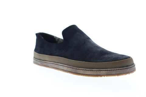 Calvin Klein Issac S0100 Mens Black Suede Low Top Slip On Casual Loafers Shoes