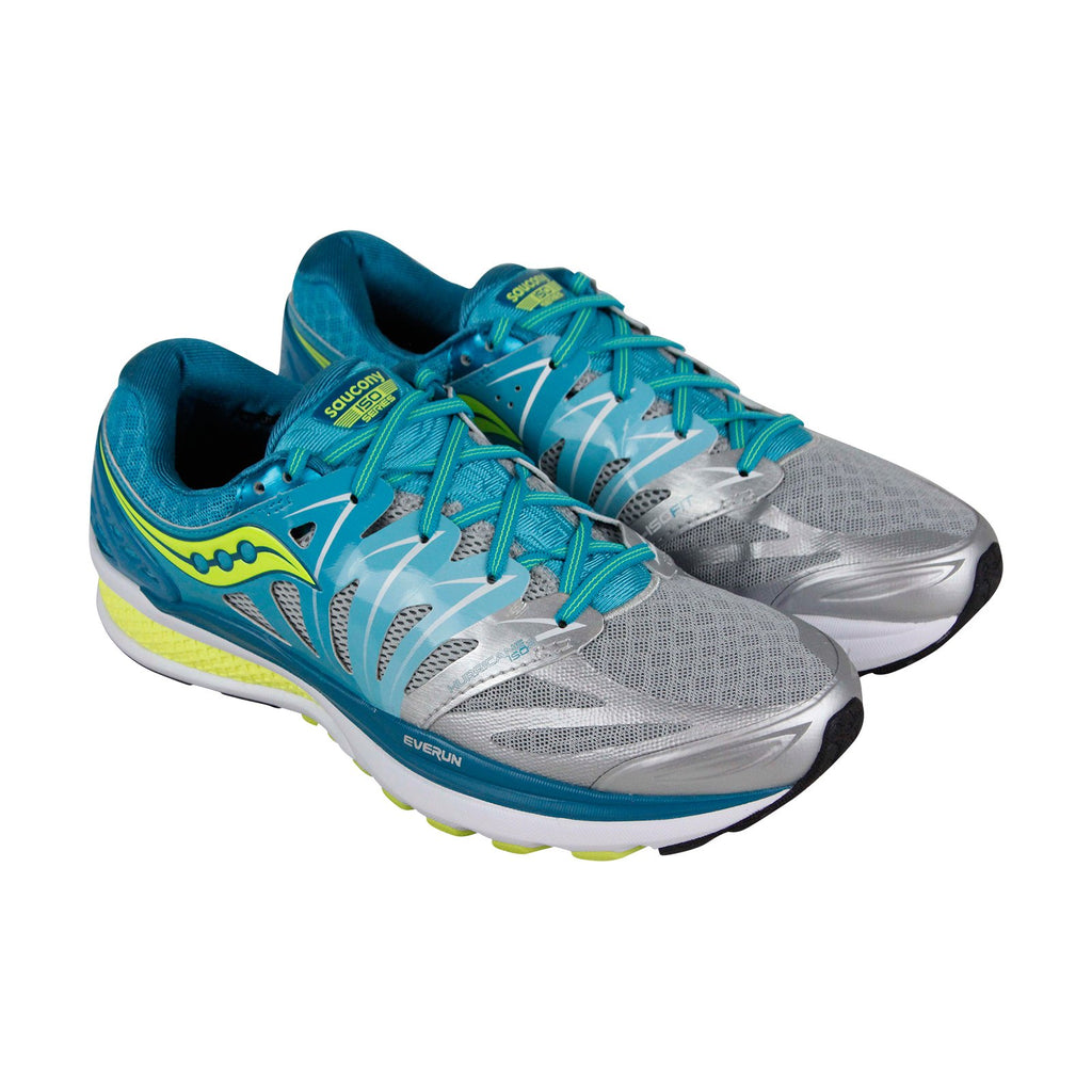 1b1a7cff Saucony Hurricane Iso 2 Womens Gray Mesh & synthetic Athletic Running Shoes  ...