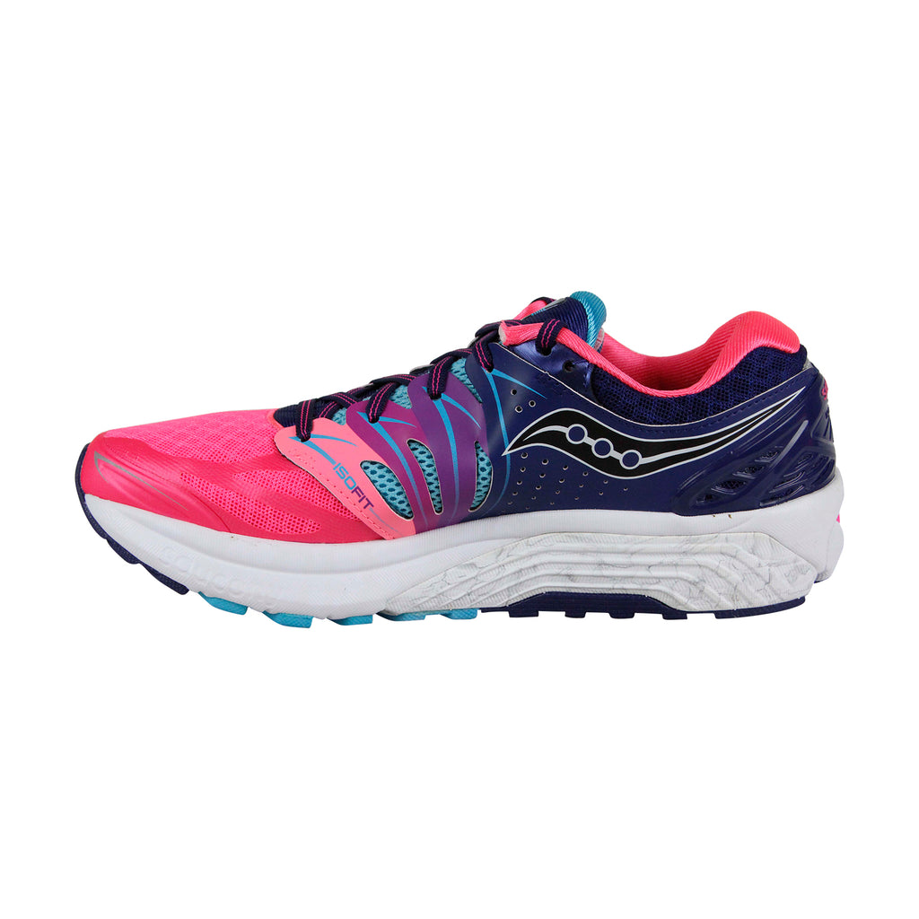 Saucony Hurricane Iso 2 Womens Pink Mesh Athletic Lace Up Running Shoes