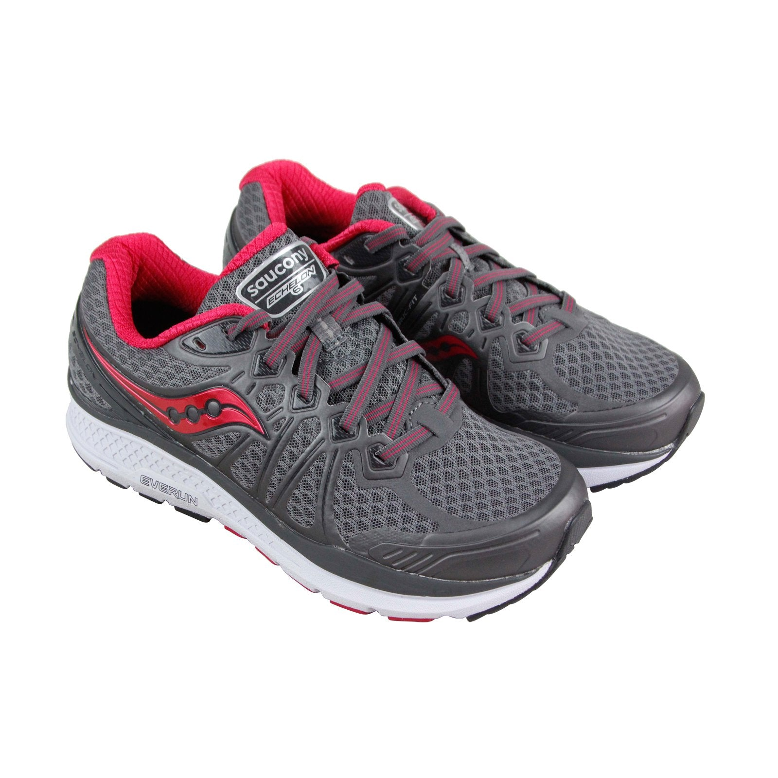 Saucony Echelon 6 Womens Gray Mesh Athletic Lace Up Running Shoes