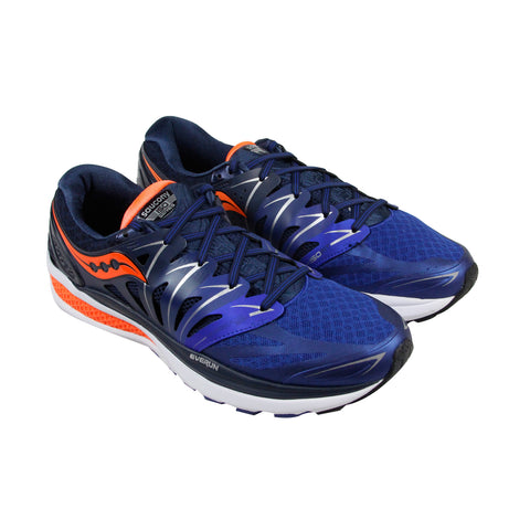 Saucony Hurricane Mens Blue Mesh & synthetic Athletic Lace Up Running Shoes