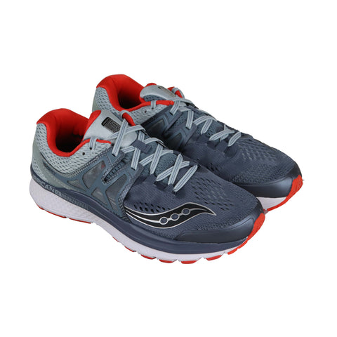 Saucony Hurricane Iso 3 Mens Gray Textile & Synthetic Athletic Running Shoes