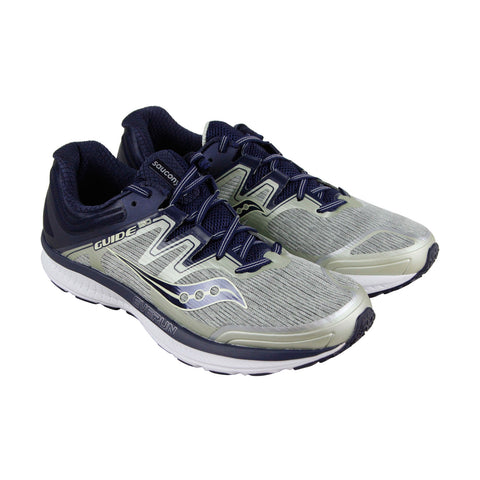 Saucony Guide Iso Mens Gray Textile Athletic Lace Up Running Shoes