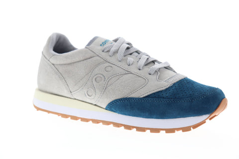 Saucony Jazz Original Suede Mens Gray Suede Low Top Lace Up Sneakers Shoes