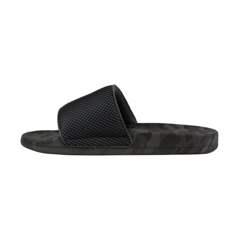 Steve Madden Seabees Mens Gray Synthetic Slides Slip On Sandals Shoes