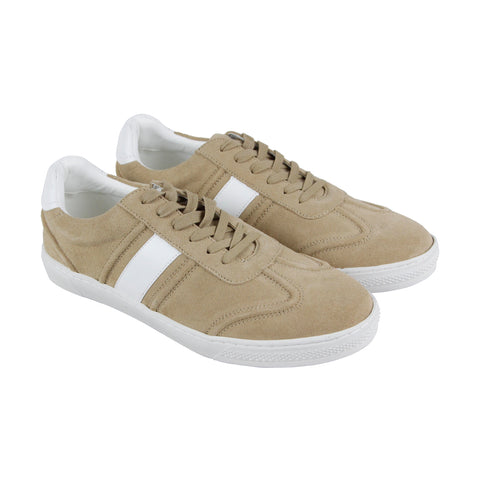 Steve Madden Sewell Mens Beige Suede Low Top Lace Up Sneakers Shoes