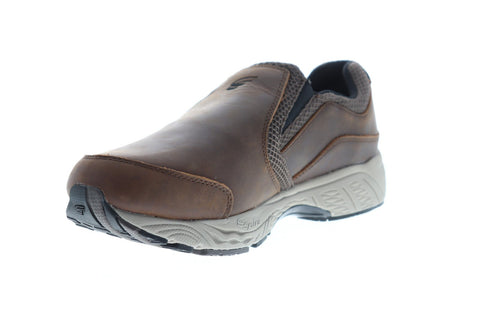 Spira Taurus Leather Moc Mens Brown Leather Athletic Training Shoes