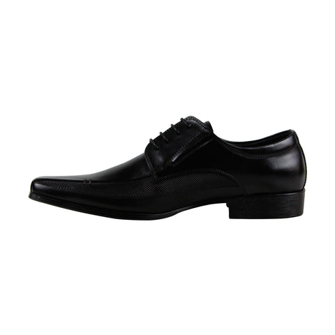 Kenneth Cole Reaction Self Review Mens Black Leather Lace Up Oxfords Shoes
