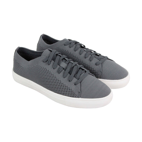 Kenneth Cole Reaction On The Road Mens Gray Textile Sneakers Shoes