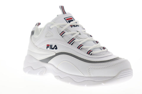 Fila Ray Womens White Synthetic Low Top Lace Up Sneakers Shoes
